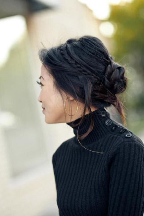 2 kiểu tóc búi tết lãng mạn cho mùa Thu
