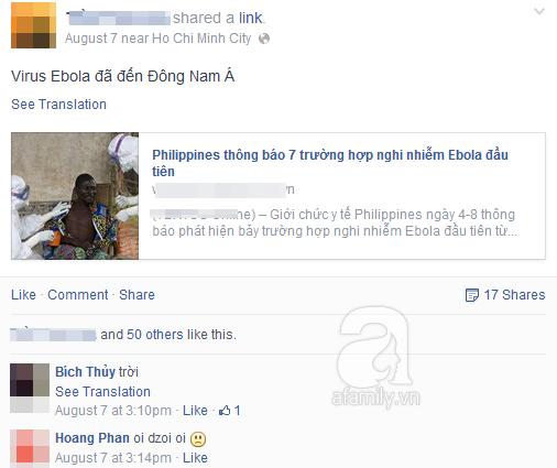 Nguy cơ dịch Ebola tràn vào Việt Nam, cộng đồng truyền tay bí kíp phòng ngừa hữu ích 4