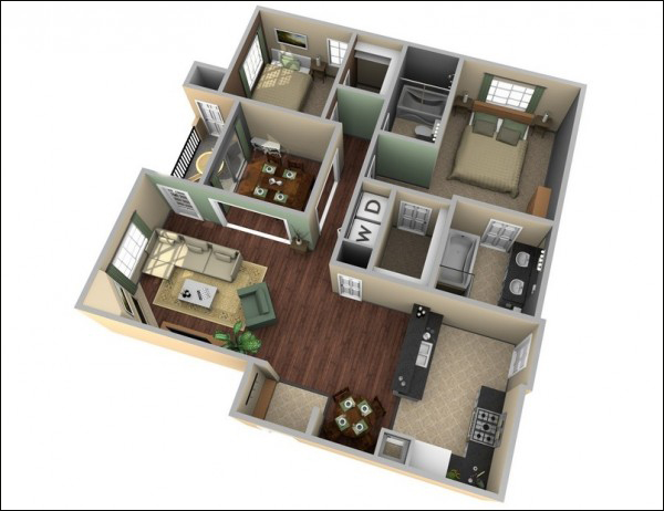 mẫu căn hộ đẹp