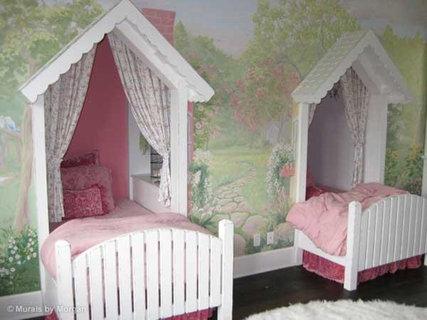 giuong ngu cho be4 Bé yêu nhà bạn sẽ thích mê những kiểu giường ngủ thế này