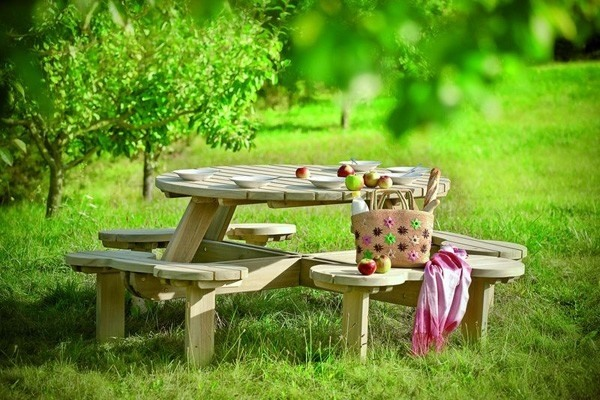 ghế gỗ sân vườn 5