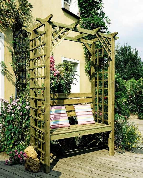 ghế gỗ sân vườn 8