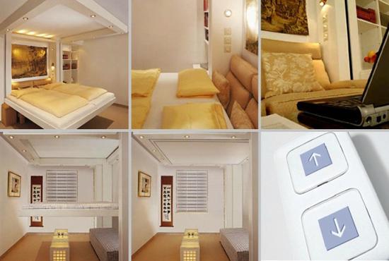 giuong ngu 15 Thích mê những kiểu giường tiết kiệm diện tích