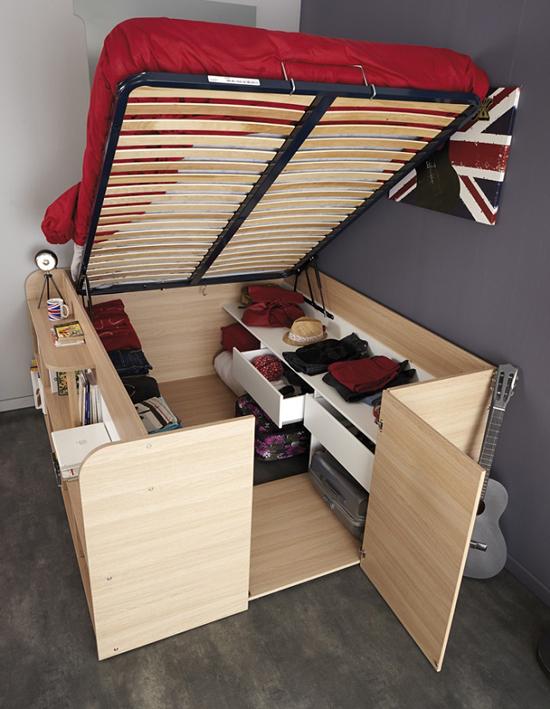 giuong ngu 3 Thích mê những kiểu giường tiết kiệm diện tích