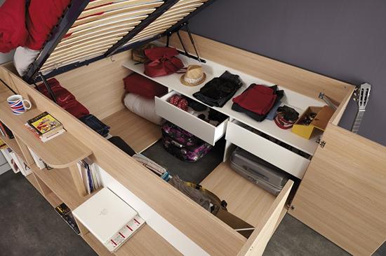 giuong ngu 4 Thích mê những kiểu giường tiết kiệm diện tích