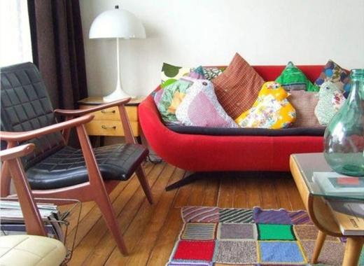 5 cách trang trí phòng khách theo xu hướng retro 1
