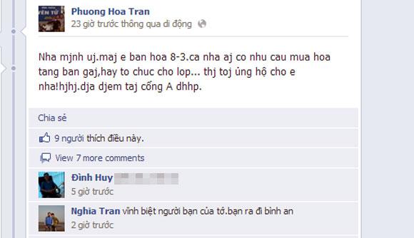 Rớt nước mắt khi xem Facebook của nữ sinh bị xe container đè đúng dịp 8/3 1