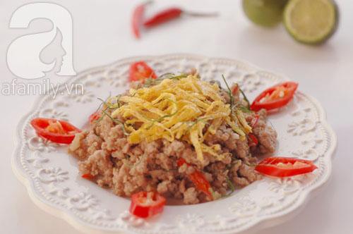 Thịt heo xào lá chanh làm nhanh ăn ngon 1