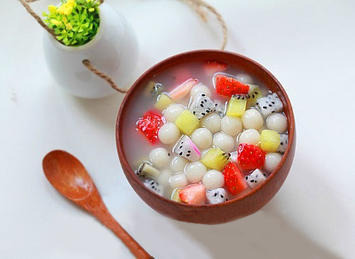 Chè hoa quả trân châu - làm nhanh ăn ngon 6