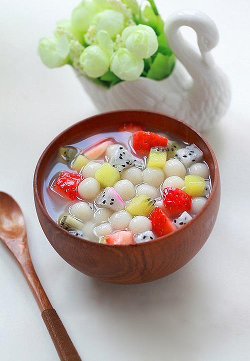 Chè hoa quả trân châu - làm nhanh ăn ngon 7