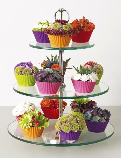Đáng yêu kiểu cắm hoa hình bánh cupcake 15