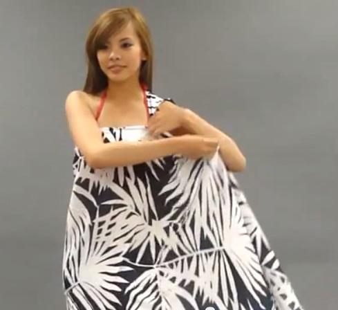 Độc đáo 3 cách quấn khăn thành váy đi biển tuyệt đẹp 10