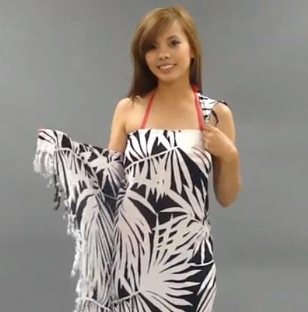 Độc đáo 3 cách quấn khăn thành váy đi biển tuyệt đẹp 12