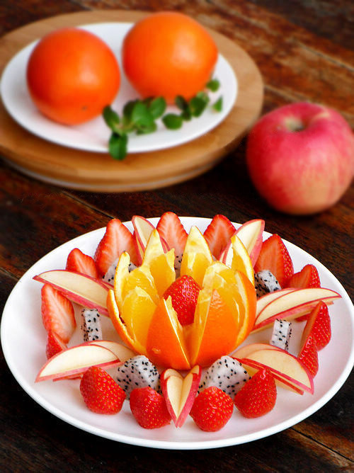 Hướng dẫn cách bày hoa quả sinh động và hấp dẫn 1