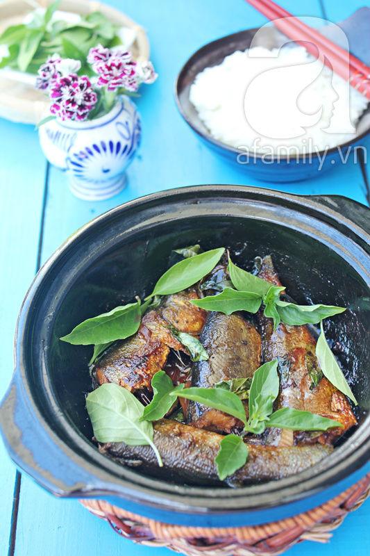 Đậm đà lạ miệng với món cá kho húng quế 16