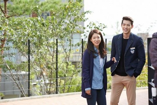 """Lee Min Ho, Park Shin Hye cười tít mắt trên phim trường """"The Heirs"""" 6"""