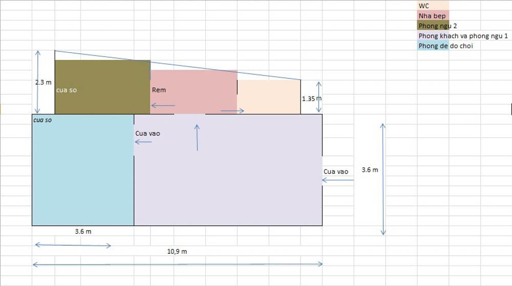 Tư vấn cải tạo cho căn hộ tập thể hình thang 59m² 1