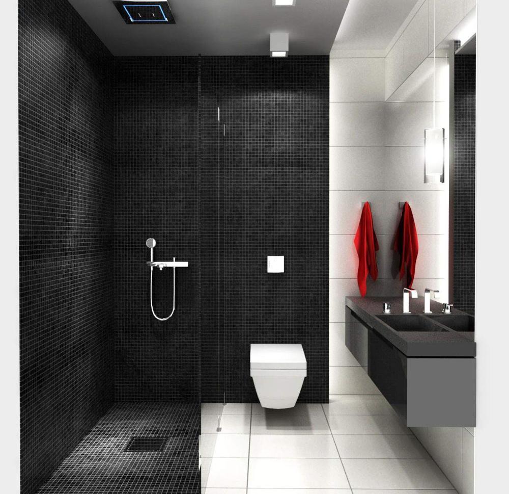 Black N White Bathroom: Tư Vấn Cải Tạo Căn Hộ 112m² Theo Phong Cách Châu Âu