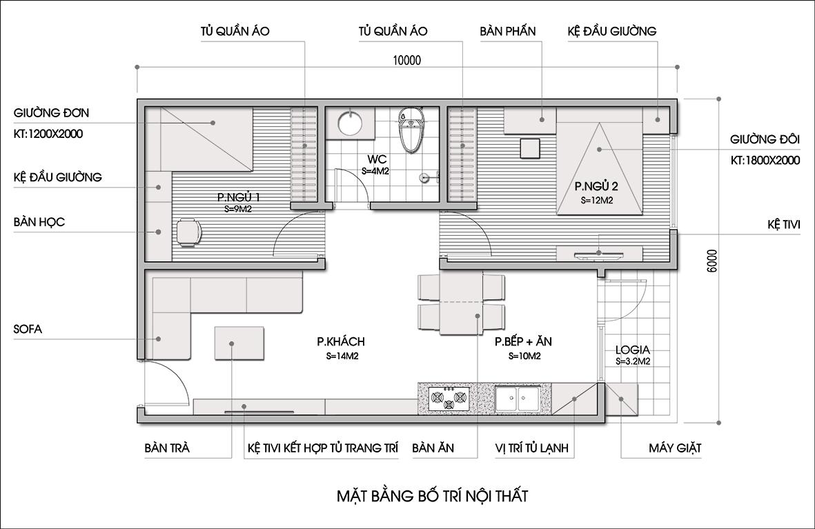 Tư vấn cải tạo căn hộ 60m² hợp phong thủy 1