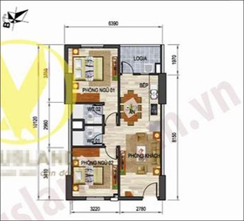 Tư vấn cải tạo căn hộ 61,5m² hiện đại và tiện dụng 1