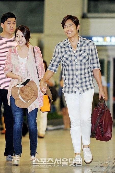 Vợ chồng Lee Byung Hun lên đường đi nghỉ trăng mật 3
