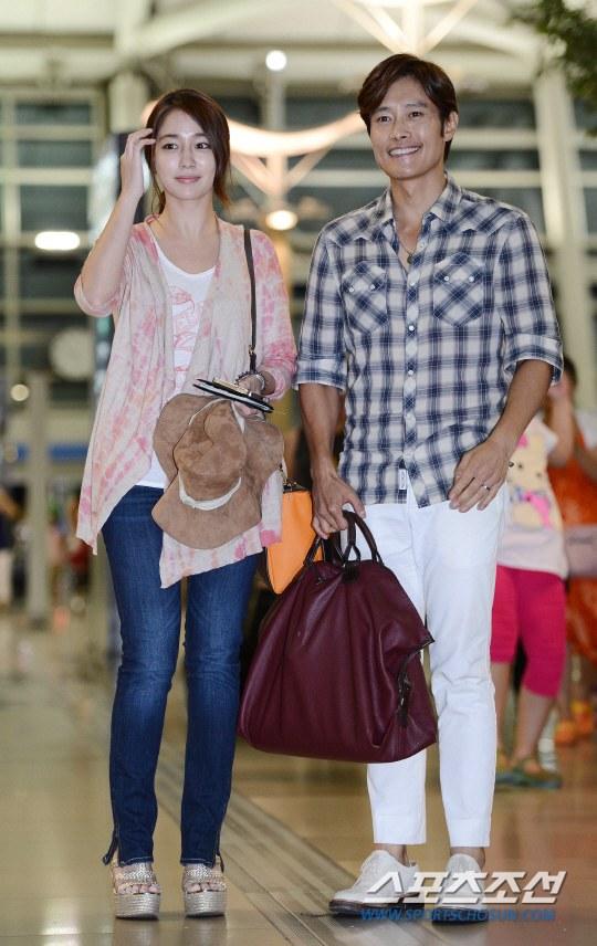 Vợ chồng Lee Byung Hun lên đường đi nghỉ trăng mật 6