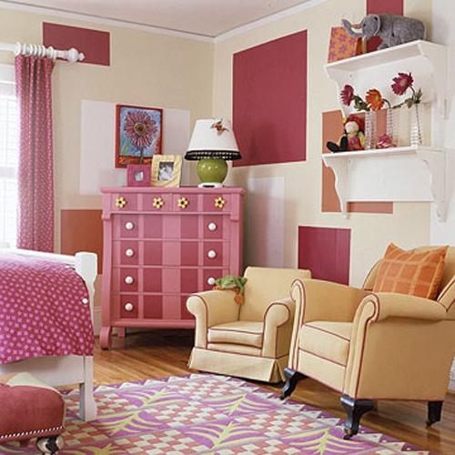 Bài trí phòng cho bé gái cực xinh xắn với màu hồng 2