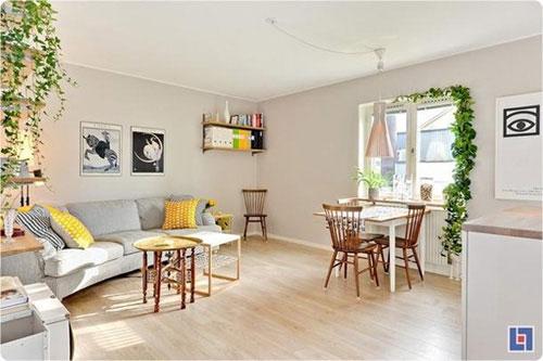 Bài trí nội thất cực chuẩn cho căn hộ 35 mét vuông  4