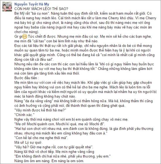 Bài học dạy con trên facebook 2