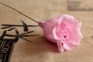 Làm hoa hồng giấy đẹp như hoa thật 6