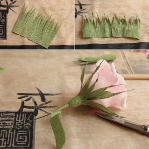 Làm hoa hồng giấy đẹp như hoa thật 9