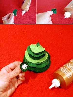 Cắt dán cây thông Noel nhỏ xinh trang trí nhà mình 7
