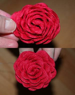 Rực rỡ giỏ hoa hồng giấy làm đẹp nhà mình 7