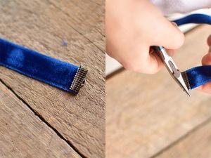 4 bước làm bookmark xinh yêu từ dây ruy-băng 4