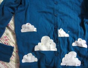 3 bước đơn giản trang trí áo len dễ thương 5