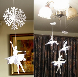 Trang trí Noel với hoa tuyết kirigami tuyệt đẹp 5
