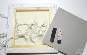Làm tranh 3D đẹp lung linh từ bìa cứng 7
