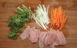 Thịt chiên xào rau củ ngon mà không ngán 2