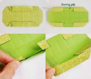 Gấp hộp quà xinh xắn theo phong cách Origami 7