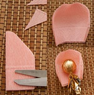 Khéo tay làm bình hoa hồng chocolate ngọt ngào 5