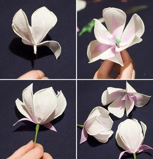 Làm hoa mộc lan giấy đẹp như hoa thật 5