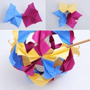 Trang trí nhà với lồng đèn Origami lung linh 5