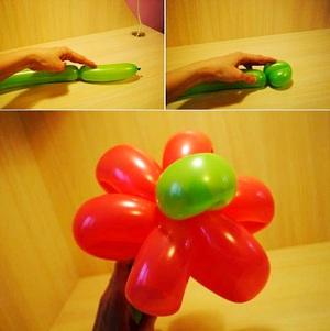 Làm hoa từ bong bóng thật rực rỡ và ấn tượng 5