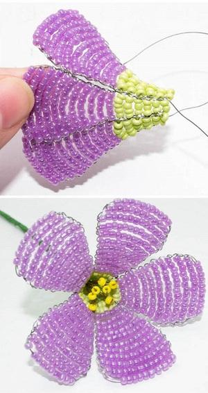 Kết cườm thành hoa sim tím lung linh sắc hè 4