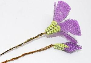 Kết cườm thành hoa sim tím lung linh sắc hè 5