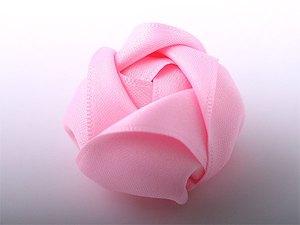 Làm hoa ruy-băng trang trí dây buộc tóc thật xinh 6
