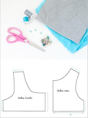 Cách cơ bản may váy đầm cho bé diện hè 1