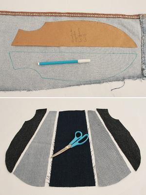 Túi xách denim thời trang tái chế từ đồ jean cũ 2