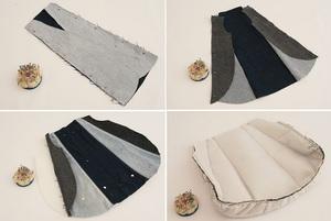Túi xách denim thời trang tái chế từ đồ jean cũ 3