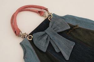 Túi xách denim thời trang tái chế từ đồ jean cũ 6